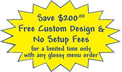 save $200 free custom design & no set up fees